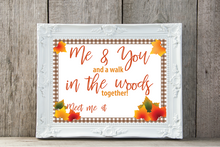 Load image into Gallery viewer, Autumn Walk in the Woods Date Night Activity Kit