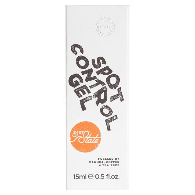 31st State for Boys - Blemish Spot Control Gel 15ml gives direct soothing relief to irritated skin, helping to treat and prevent breakouts.