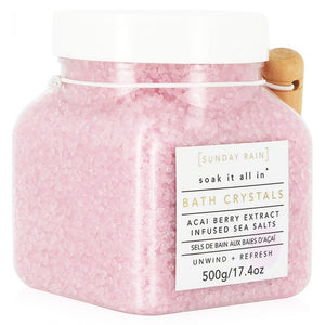 SUNDAY RAIN - Acai Berry Bath Crystals 500g