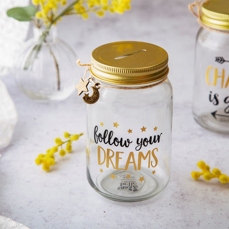 'Follow Your Dreams' Money Jar