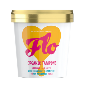 FLO - Organic Non-Applicator Tampon Pack