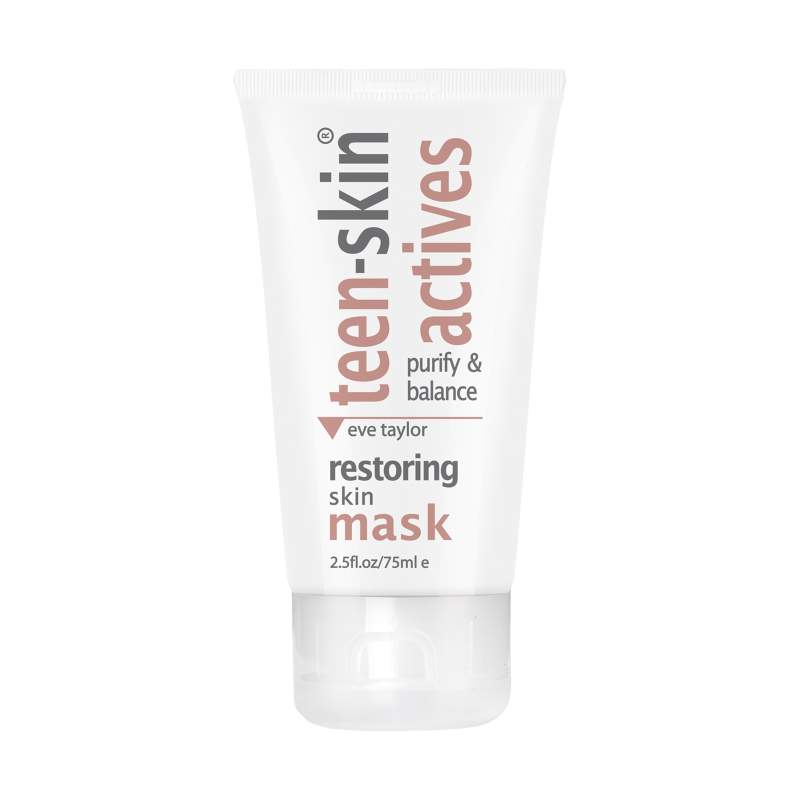 TEEN-SKIN ACTIVES - Restoring Skin Mask 75ml  absorbs excess oils that can block pores causing spots and blackheads by drawing out impurities and tightening pores. A purifying and balancing mask to help prevent blemishes developing on teen skin.