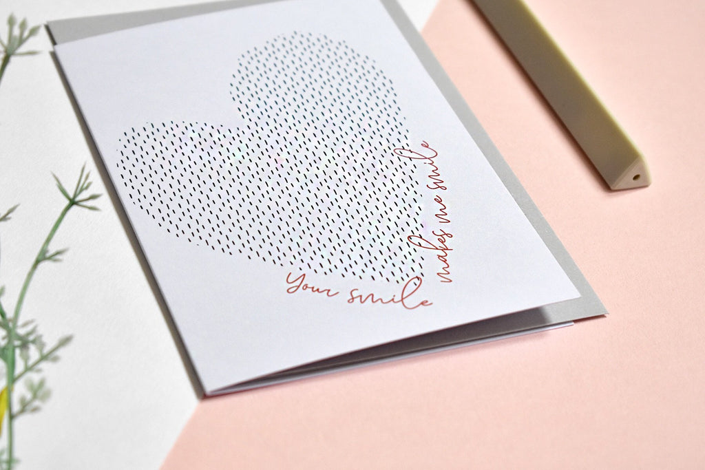 'Your smile makes me smile' Greeting Card