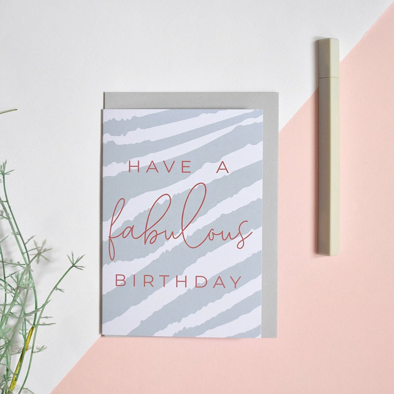 'Fabulous Birthday' Greeting Card