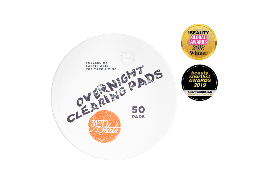 31st State for Boys - Overnight Clearing Pads, 50 pads