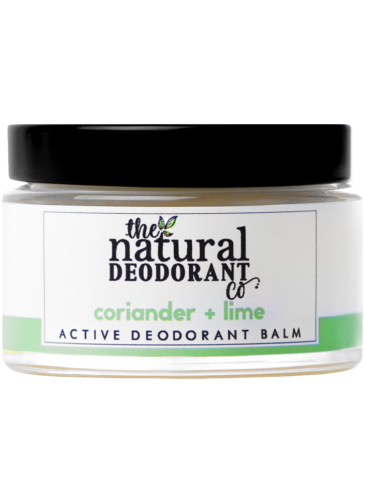 THE NATURAL DEODORANT CO.  Active Deodorant Balm Coriander + Lime 55g
