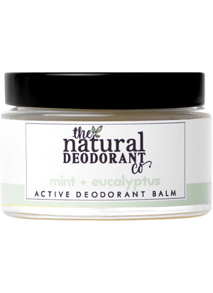 THE NATURAL DEODORANT CO.  Active Deodorant Balm Mint + Eucalyptus 55g