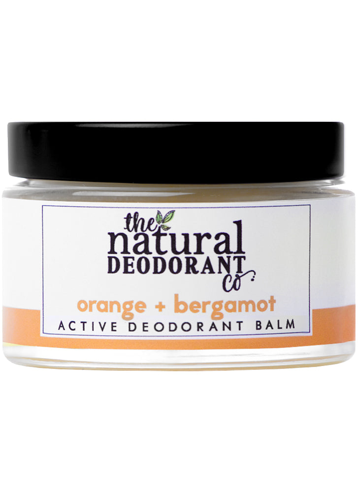 THE NATURAL DEODORANT CO.  Active Deodorant Balm Orange + Bergamot  55g