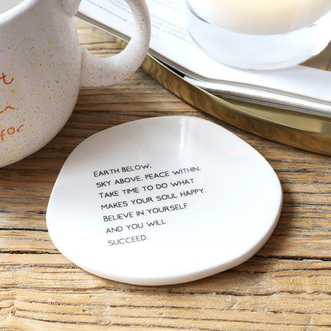 'Believe in Yourself' Ceramic Coaster
