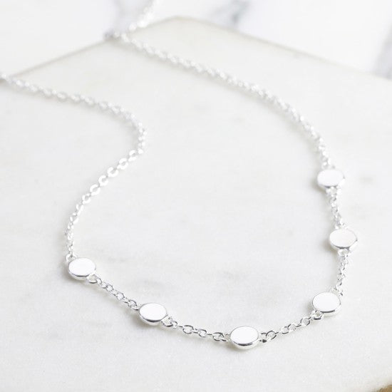 Short Charms Necklace in Silver
