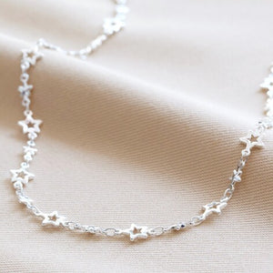 Starry Choker Necklace in Silver
