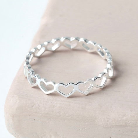 Sterling Silver Heart Outline Ring