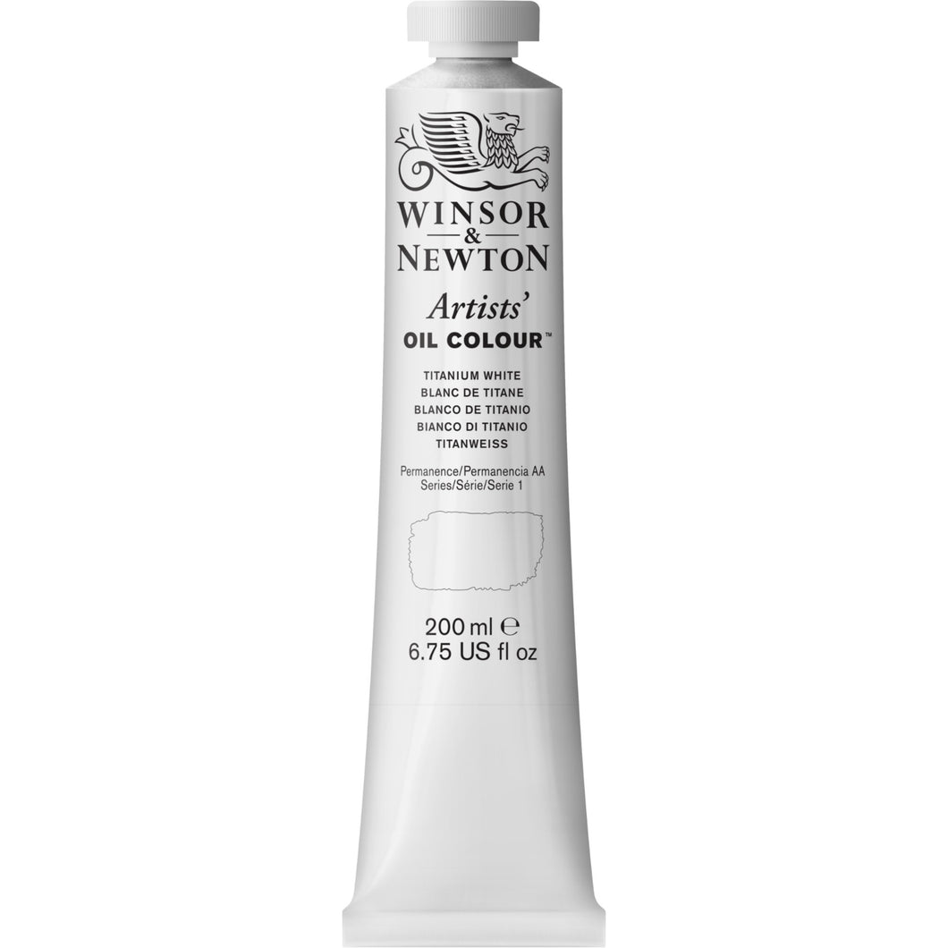 W&N Artists' Oil Colour 200ml Tube Titanium White