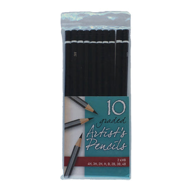 10 Graded Artists Pencils