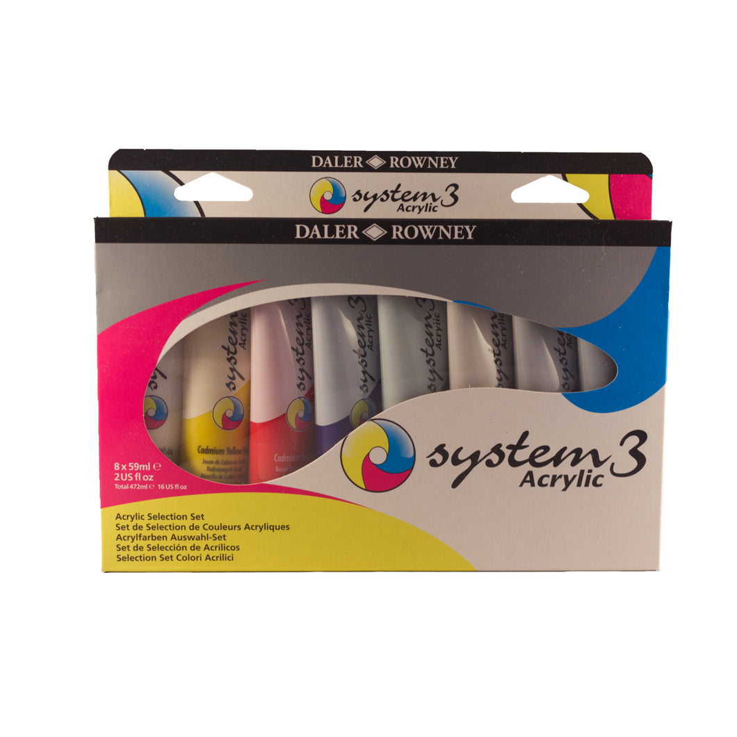System 3 Acrylic Selection Set 8x59ml Tubes