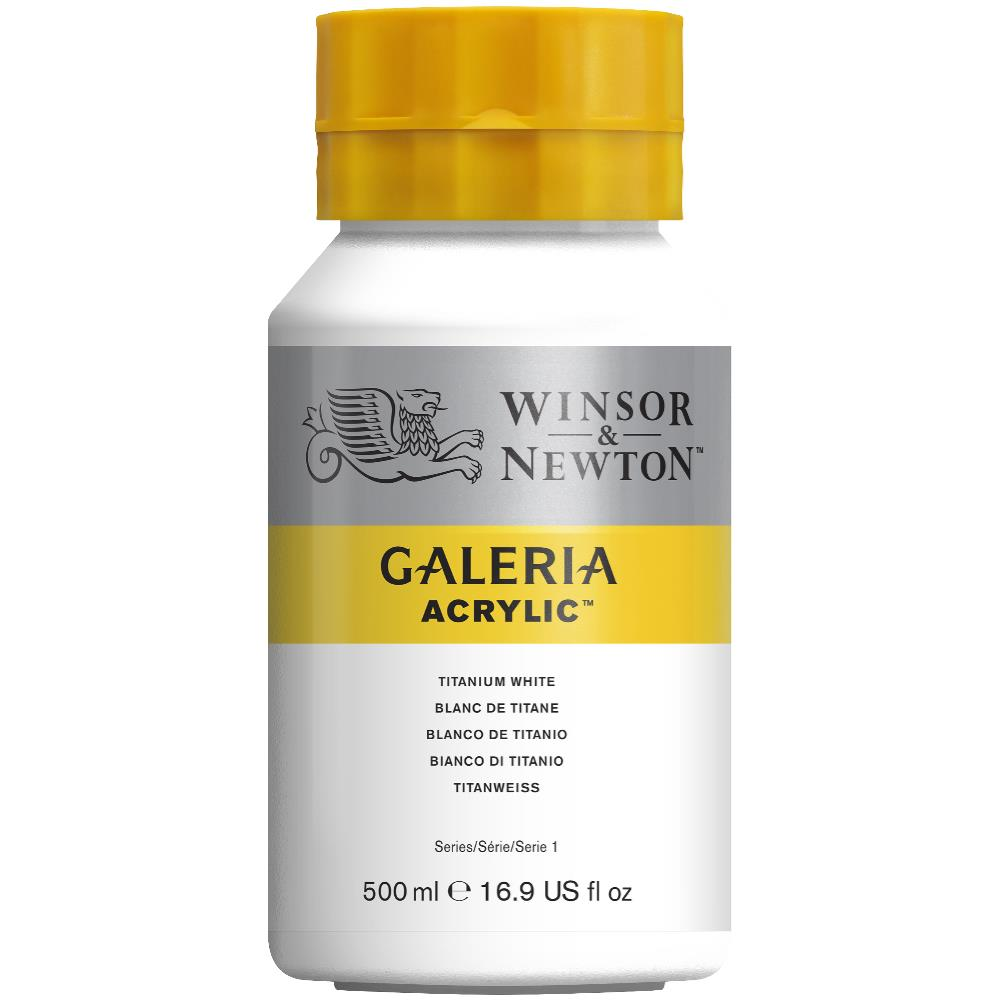 W&N Galeria Acrylic Paint 500ml Tub Titanium White