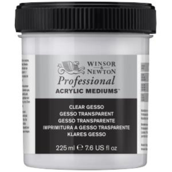 Artists Acrylic Clear Gesso (Transparent) 225ml