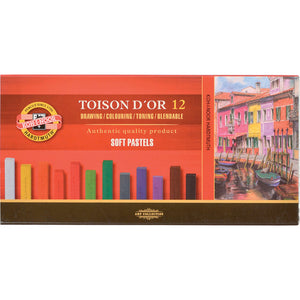 Koh-I-Noor Toison D'Or Soft Square Pastels - Set of 12