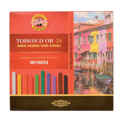 Koh-I-Noor Toison D'Or Soft Square Pastels - Set of 24