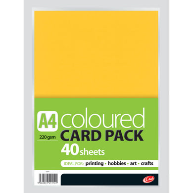 Assorted Coloured Card Pack