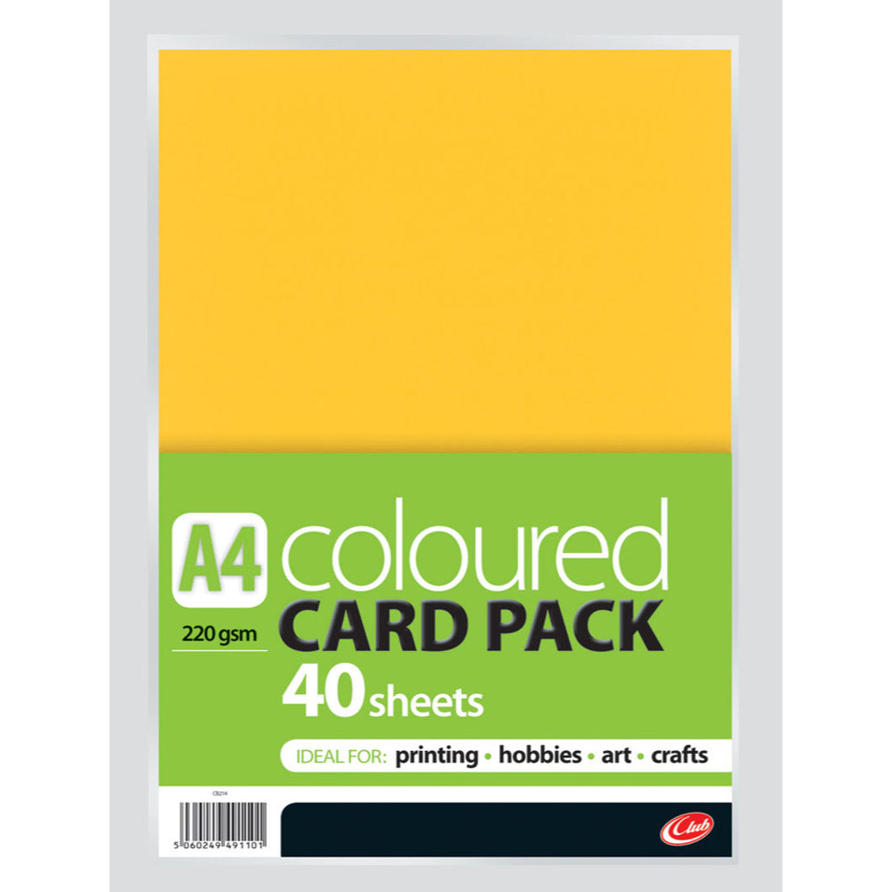 A4 Coloured Card Pack