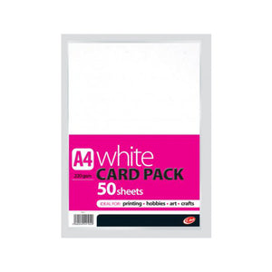 A4 White Card Pack