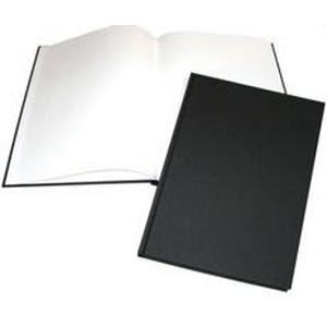 A4 Portrait Black Cloth Hardbacked Sketchbook 92 pages, 140gsm