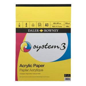 System 3 Acrylic Paper Pad