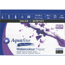 Load image into Gallery viewer, Aquafine Texture Watercolour Pad