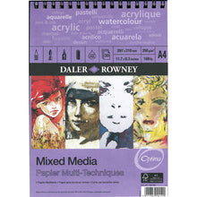 Load image into Gallery viewer, Mixed Media Spiral Paper Pad