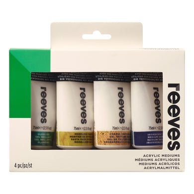 Reeves Acrylic Medium Set 4x75ml Tubes