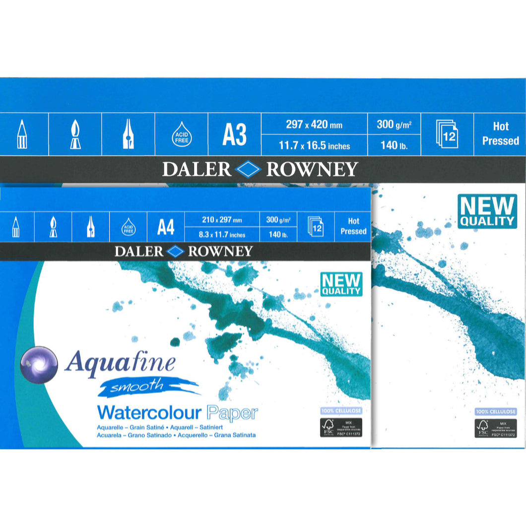 Aquafine Smooth Watercolour Pad