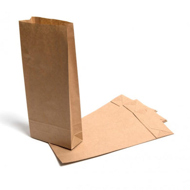 Brown Kraft Roll-Top Block Bottom Bags