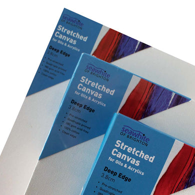 Primed & Stretched Square Canvas Frames 3.8cm Deep Edge