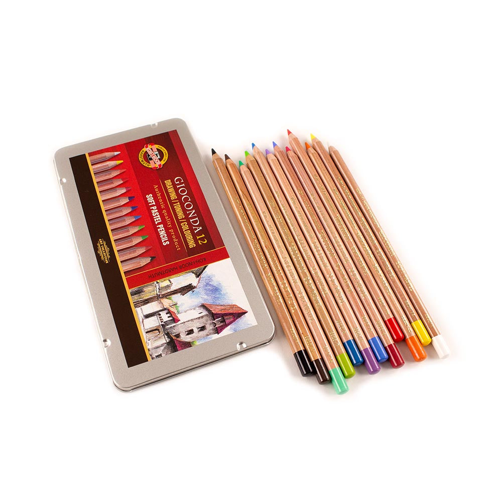 Soft Pastel Pencils - Tin of 12
