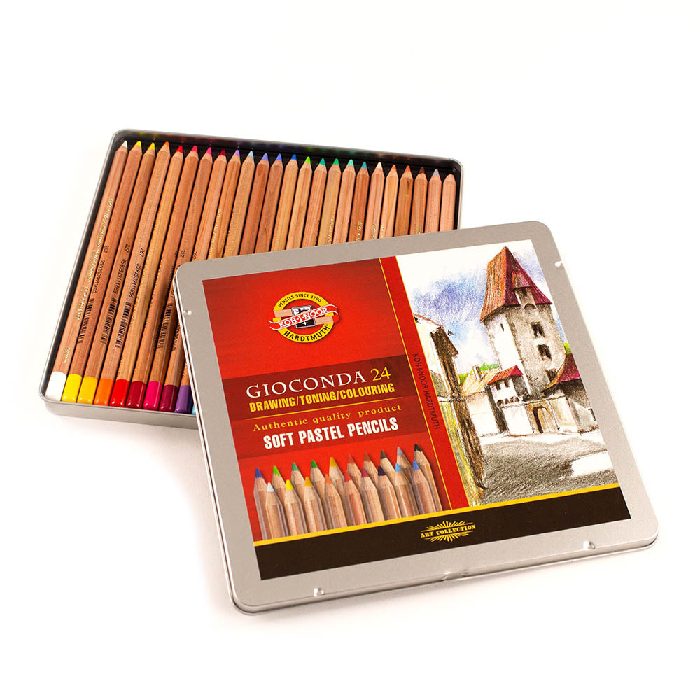 Soft Pastel Pencils - Tin of 24