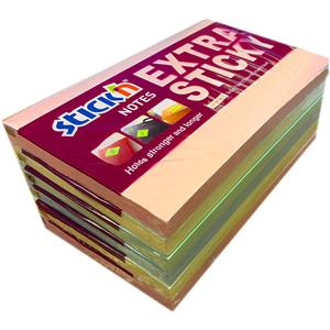Extra Sticky Notes 76x127mm Pastel Pack 6