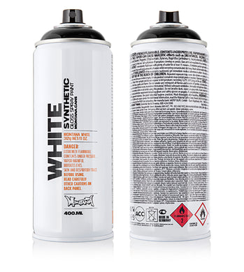 MontanaWHITE Acrylic Spray Paint 400ml