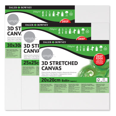 Daler Rowney Simply Deep Edge Stretched Canvas