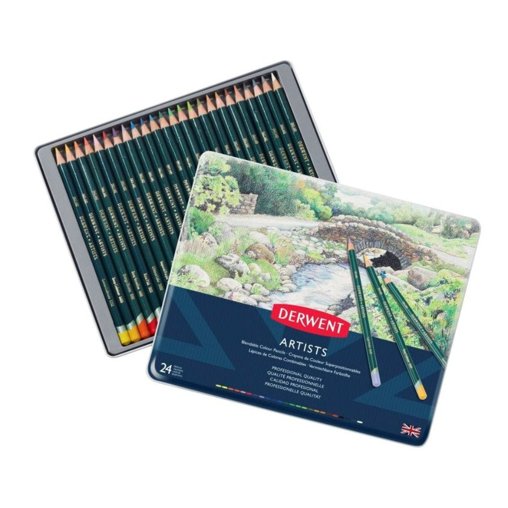 Derwent Artists Pencils - Tin of 24