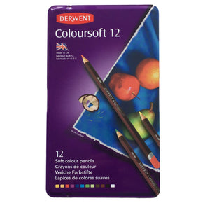 Derwent Coloursoft Tin of 12 Pencils
