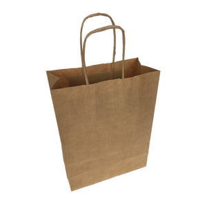 "Twisted Handle Kraft Paper Bags Brown/White 7""x8"""
