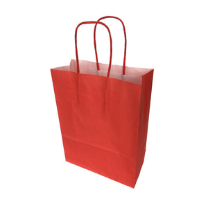 "Twisted Handle Kraft Paper Bags Coloured 7""x8"""
