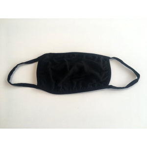 Reusable Cotton Facemask Black Pack 5