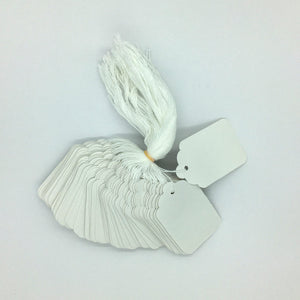 Strung Tags - White