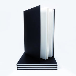 A3 Portrait Black Cloth Hardbacked Sketchbook 92 pages, 140gsm