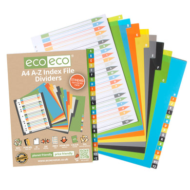 A4 Index File Dividers A-Z 50% Recycled