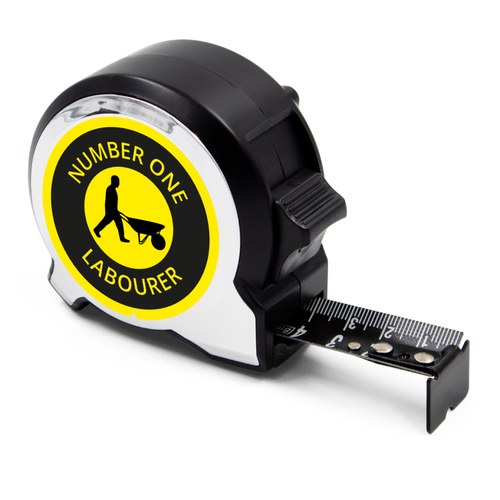 Personalised Black Edition 5m-16ft x 25mm Tape Measure - No1 Labourer