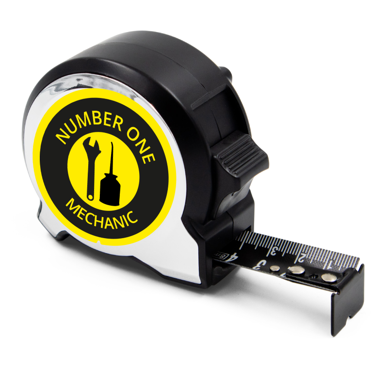 Personalised Black Edition 5m-16ft x 25mm Tape Measure - No1 Mechanic