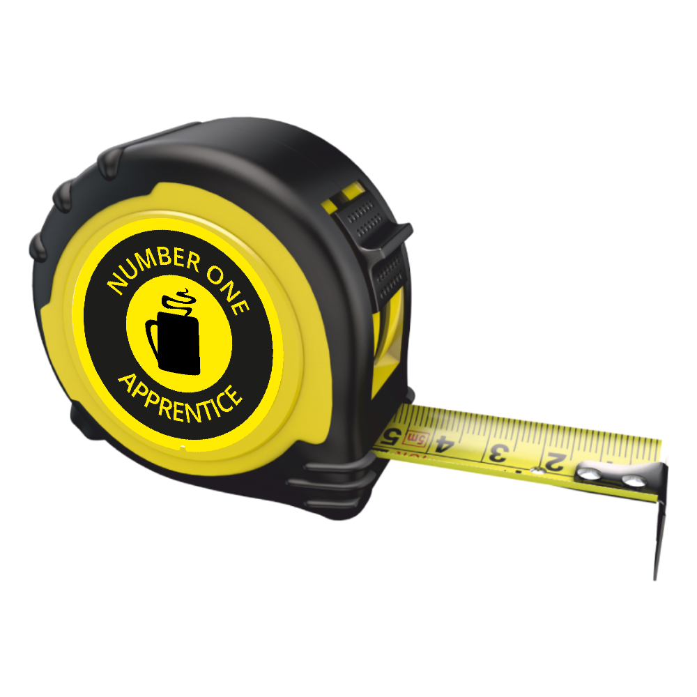 Personalised Professional Tape Measure Gift - 5m/16ft - No1 Apprentice
